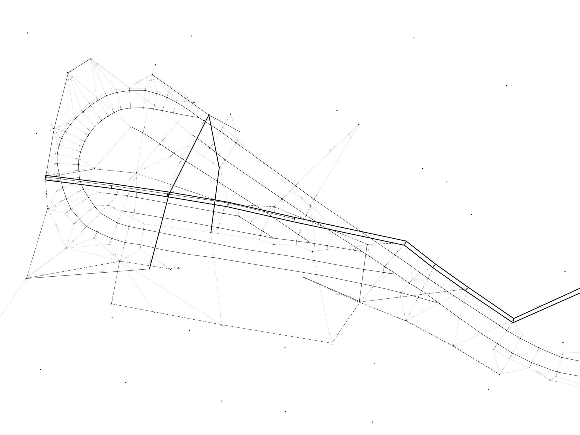 One of the aspects of the site that I foundfascinating was the network of cables used to power the tram. This drawing is a mapping of all of the cables on the site including their function and connection types.