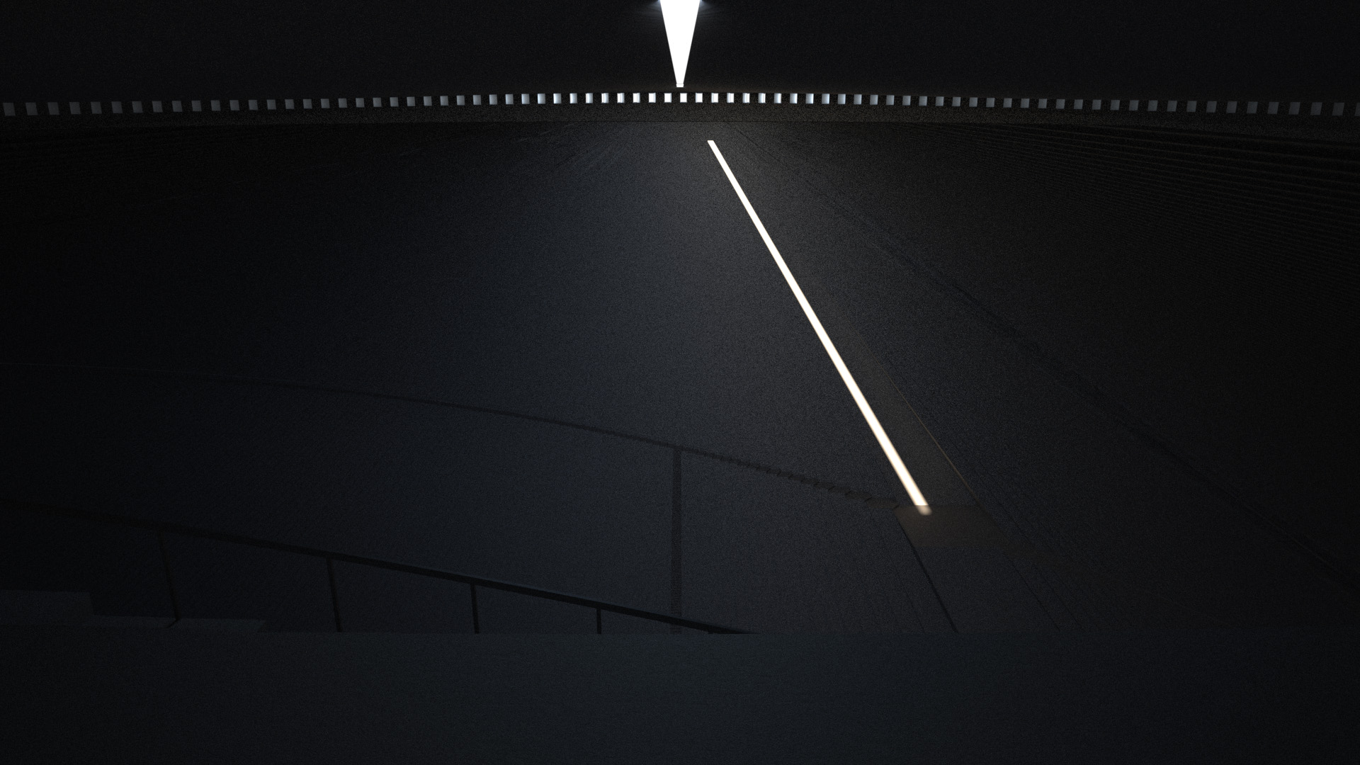 At 78° a line of light follows people around the space.